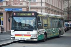 8. dubna 2008 - Karosa Citybus na konečné zastávce linky číslo 1 Lázně III