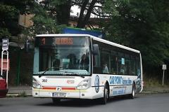 20. srpna 2008 - Iveco Citelis na lince číslo 1 vyjíždí ze zastávky Horní nádraží